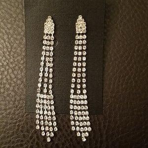 Rhinestone earrings-NWOT